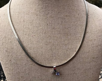 Tanzanite international silver omega chain
