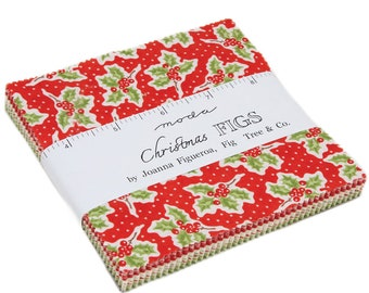 Sale! Christmas Figs Charm Pack, Fig Tree for Moda 20310PP