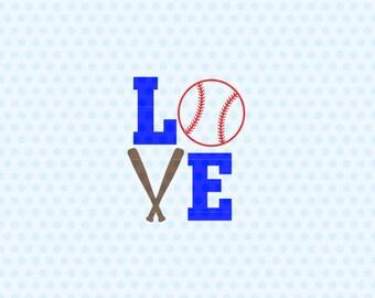 Love Baseball Svg, Baseball Svg, Love Softball Svg, Baseball Heart, Svg Files, Cricut Cut Files, Silhouette Svg