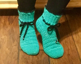 Women's Crochet Slipper Pattern, Easy Crochet Pattern