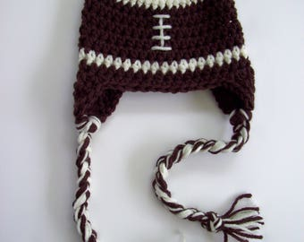 Baby Boy Football Hat, Newborn Baby Football Hat, Crochet Football Hat, Newborn Baby Gift, Newborn Photo Prop, Crochet Baby Hat, Baby Boy