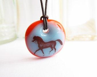 Arabian Horse Necklace / horse lover gift / equestrian jewelry / teen girl gift / Arabian horse jewelry / horse art gift / gift for her