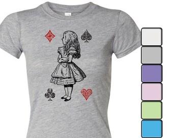Alice in Wonderland T-shirt, Alice in Wonderland Shirt - Women's Shirt Tee, Alice in Wonderland by Lewis Carroll Shirt, Alice