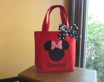 TOTE BAG Custom Minnie Mouse Toddler or Big Kid Tote Bag