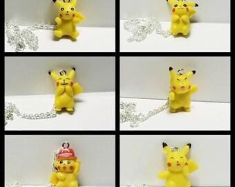 Pokemon Necklace, Pikachu Necklace, Electric Type Pokemon Necklace, Generation I, Evolutions, Free Shipping