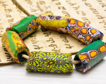 African large Trade Beads , Venetian beads ,Millefiori Beads,glass Beads,African, Jewelry Supplies , bohemian beads, Trade Beads