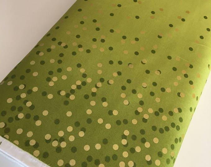 Ombre Confetti fabric by Vanessa Christenson, Gold Metallic Decor, Wedding fabric, Quilting, Ombre Confetti in Lime Green, Choose The Cut