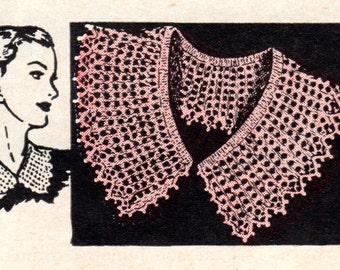Collar Pattern, Knit, Vintage Pattern, Instant Download
