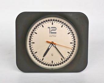Vintage Atomic Wall Clock / Philips HR 5576 / 70's Germany