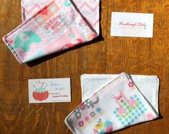 Limited Stock Elephant Baby Wipe Set (2) |  Baby Girl | Shower Gift | Snuggle Flannel