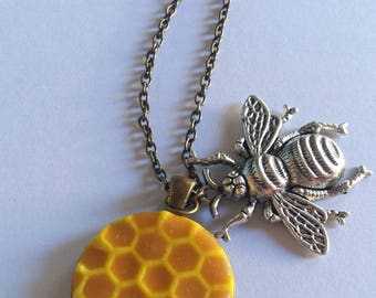 Necklace bee and honey