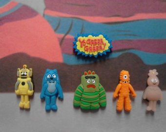 Yo Gabba Gabba Mini Magnets**Fun Gift Idea**