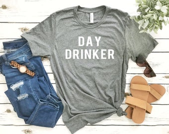 Day Drinking Shirts - Day Drinker - Funny Vacation Cruise Drinking Cocktails Short-Sleeve Unisex T-Shirt