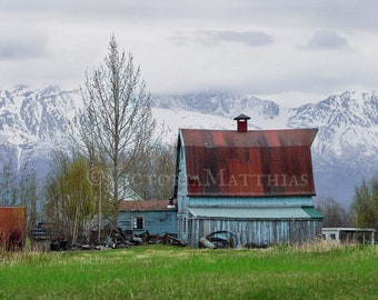 Barn in the mountains fine art photography print