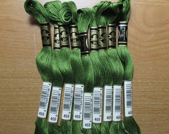 Lot of 5 Skeins DMC Floss # 469