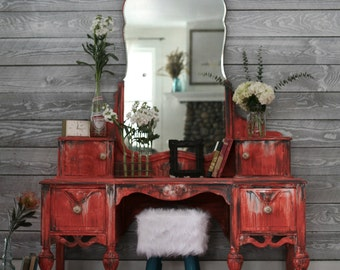 Bohemian Rustic Antique Vanity