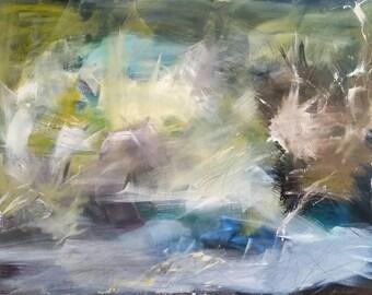 "Abstract 30""x40"" Acrylic on canvas."
