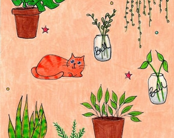 The Kids-- Cats and Houseplants