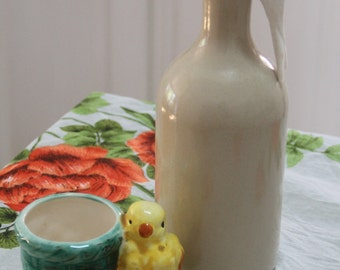 Whimsical Vintage 1950's Retro MId-Century Chicken figurine/planter
