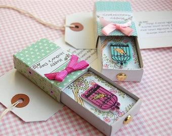 Mother's Day, Mother's Day Card, Mother's Day Gift, Birthday Card, Matchbox Greeting, 3D Card