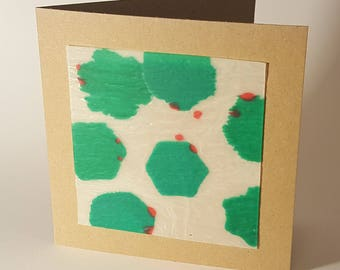 Recycled Plastic Milk Bottles Holly Greetings Card