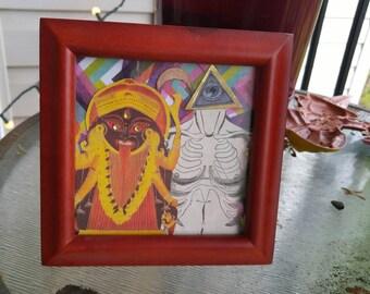 Hindu Gothic - an original collage
