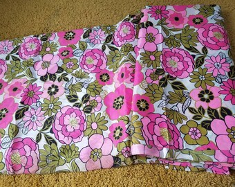 Vintage Floral Fabric, 1960's Fabric, 9yds