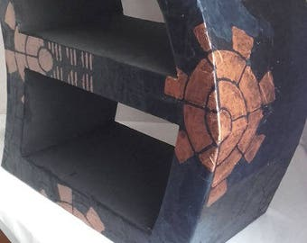 "Black and copper cardboard furniture ""radioactive"""