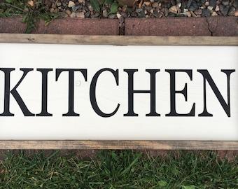Kitchen Framed Wood Sign - Rustic Home Decor - Housewarming Gift - Framed Home Decor - Farmhouse Decor - Farmhouse Wood Sign