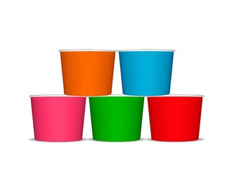 Ice Cream Cups, Ice Cream Birthday, Ice Cream Social, Snack Cups, Treat Cups, Party Cups, Snow Cones, Colorful Cups