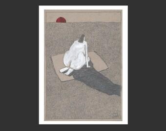 Giclée, Fine Art Print, »Sonnenuntergang«