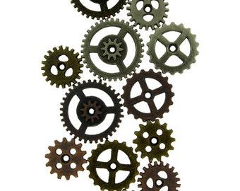 Mini Gears by Tim Holtz (Pkg of 12)  (EB2025)