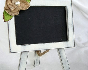 Wedding Chalkboard Wood Table Sign Frame w Easel Wedding Rustic Vinood  Shabby Chic Menu Food Candy Label Blackboard White Primitive