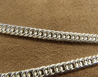 Strong metal - 6mm 5 mm silver chain