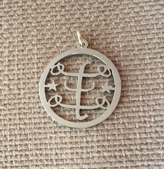 Bahai Symbol Jewellery Stainless Steel Pendants Ringstone