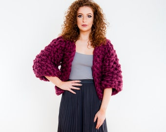 Knit Jacket Cardigan Luxury Chunky Knit Sweater Jacket