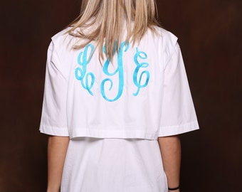 Monogram Fishing Shirt - Southern Prep - Large Back Monogram - Fishing Shirt
