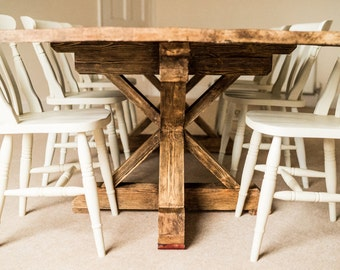 Farmhouse Dining Table   Reclaimed Wood Dining Table   Rustic Dining Table