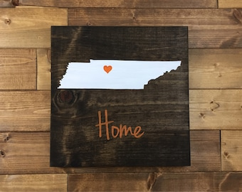 Pick Colors, Tennessee Wood Sign, Tennessee State Sign, Wood signs, Tennessee decor, Tennessee sign, Tennessee home sign, Farmhouse decor