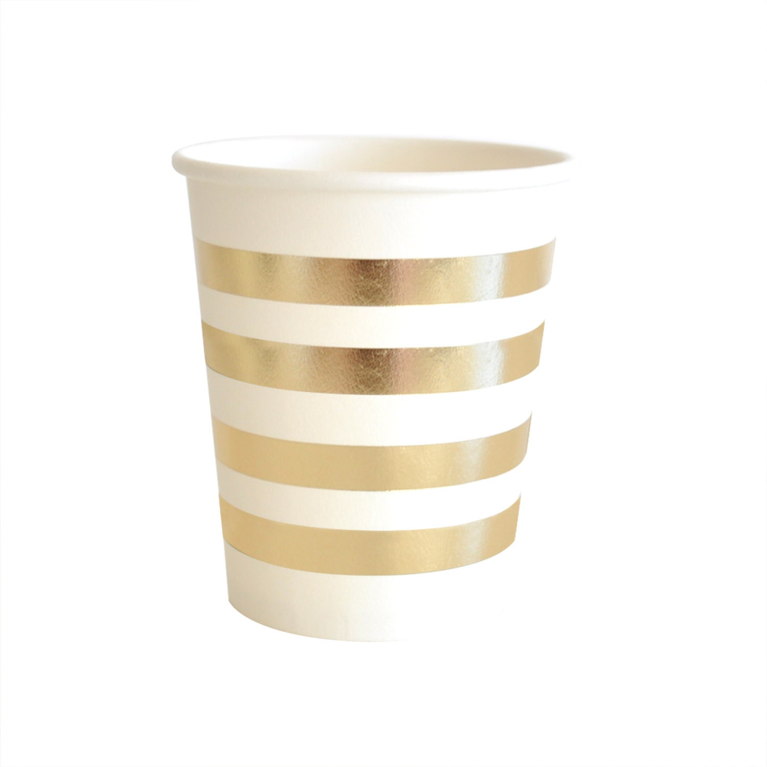Paper Cups Gold Party Cups Striped Gold Foil Cup Gold Cups Drinking ...