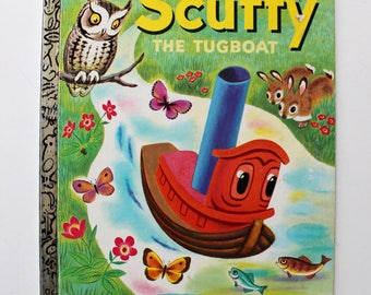 Scuffy The Tugboat Pictures by Tibor Gergely A Little Golden Book 1974