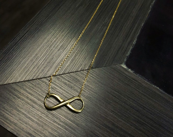 Infinity Necklace in 14k Gold