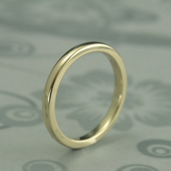 14k Yellow Gold High Polished 2mm Traditional Milgrain: Thick Solid 14K Gold Wedding Band2.5mm By 2mm Rounded Ring