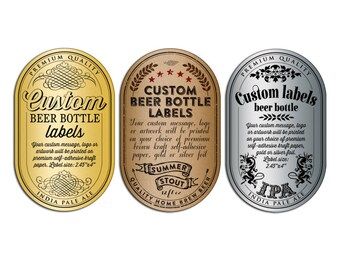 Custom Beer Bottle Labels - Personalized Beer Labels