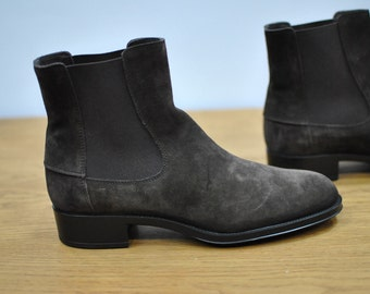 Vintage TOD'S ankle  boots  , designer shoes , leather shoes....