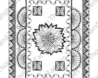 """Coloring Page - Zentangle® Inspired Art - """"ZIA 42"""""""