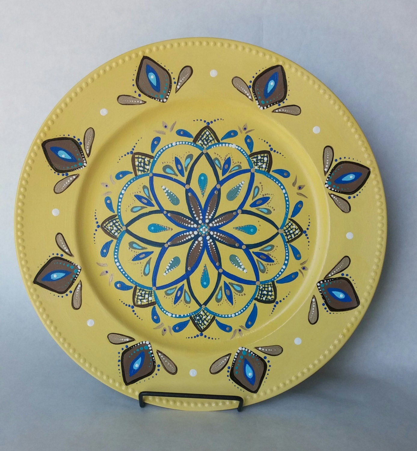 Decorative plate painted plate hand painted wall plate