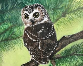 Owl Canvas Print, Owl Artwork, Owl Home Decor, Owl Canvas Print, Nature Room Decor, Art Decor, Nature Poster, Owl Portrait. 20Wx16Hx1.5D