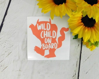Mom Car Decal Cute Wild Child on Board Decal Car Decal Mom Decal Family Sticker Car Family Decal Family Decal Mom Mom Gift Baby On Board Dec