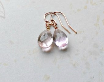 Ametrine Earrings AAA Gemstones Amethyst and Citrine Rose Gold Earrings Gifts for Her Gifts under 25 Gifts for Her